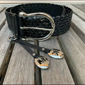 New Michael Kors Braided wide buckle belt-LArge